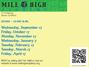 Postcard pre k story time dates