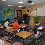 Mr. Weber teaching class