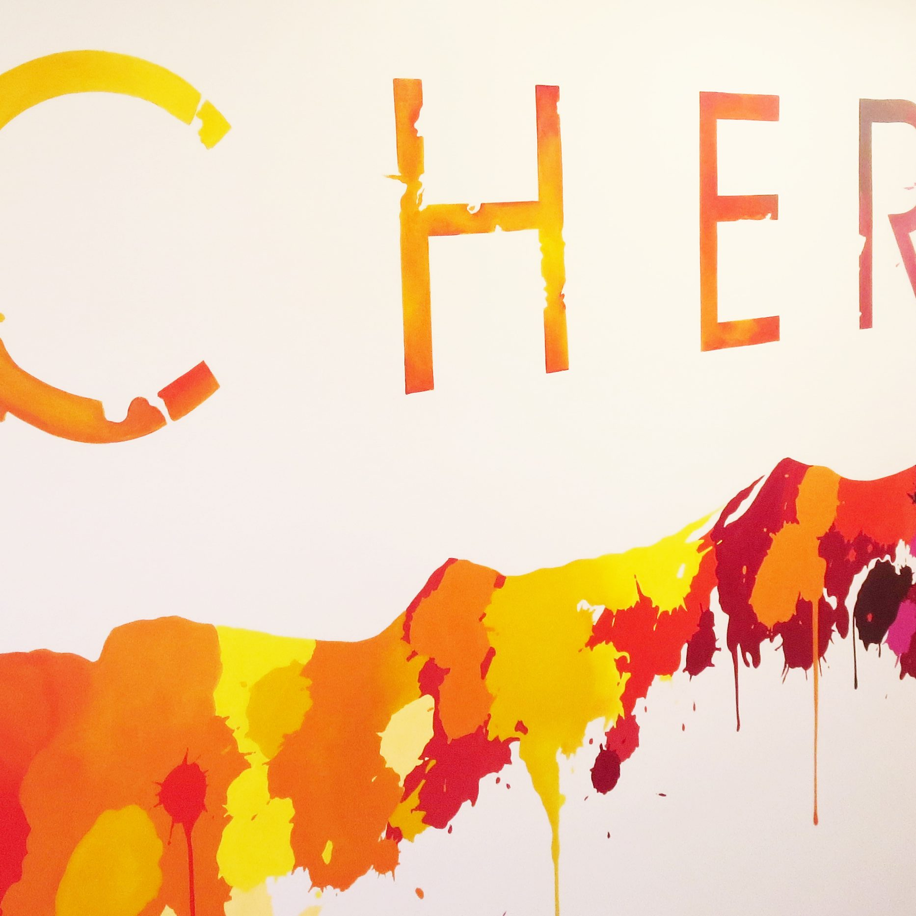 cherish painted wall