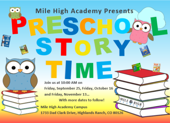 Preschool Story Time Friday!