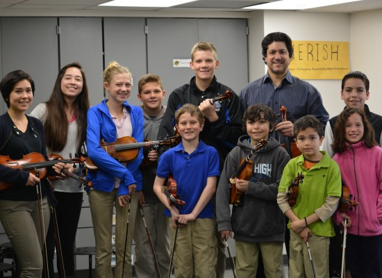 Violinist Jaime Jorge Visits Mile High Academy