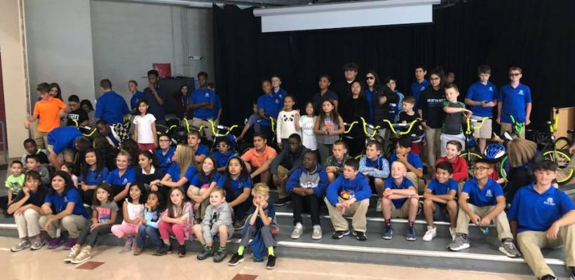 Middle School helps Wish For Wheels